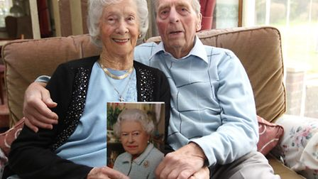 Alan and Lillian Clark celebrate their 70th Wedding Anniversary with their card from the Queen