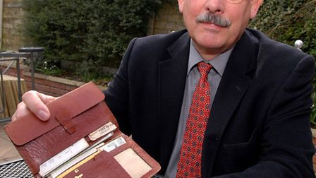 Richard Lane with his wallet that was returned to him after 35 years.