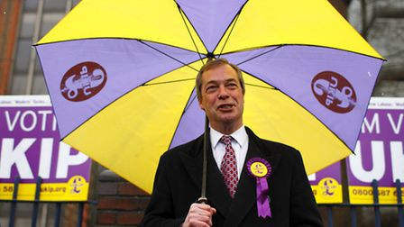 UKIP leader Nigel Farage in Eastleigh, Hampshire ahead of a by-election caused by former Cabinet min