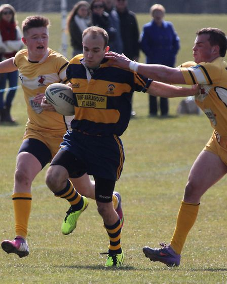 Winger Keiron O'Shea on his way to the try line