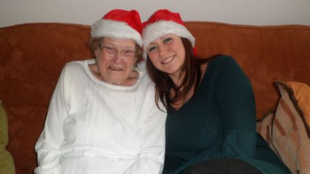 Felicity Scrivener with nan Mary