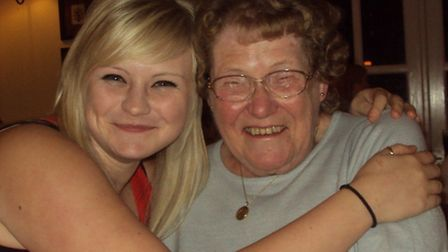 Lucy Scrivener with nan Mary