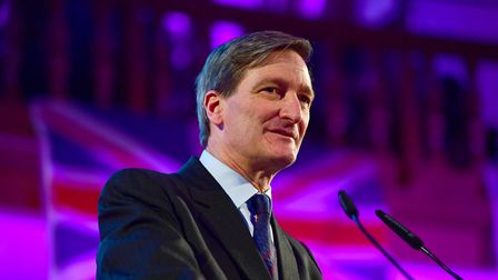 Dominic Grieve speaks at the People's Vote Rally in Assembly Hall, Westminster. Photograph: Victoria
