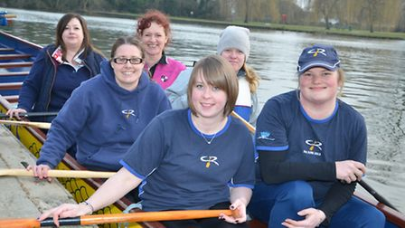 OARSOME: St Neots Dragon Boat ladies captain Jacqui Butterwick, front right, with fellow members.