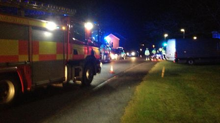 Fireighters and paramedics attend crash in Longsands Road, St Neots