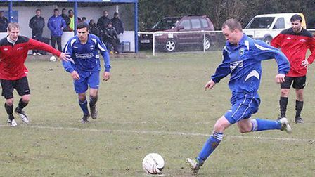 Matt Newman netts from the penalty spot. Picture by James Whittamore