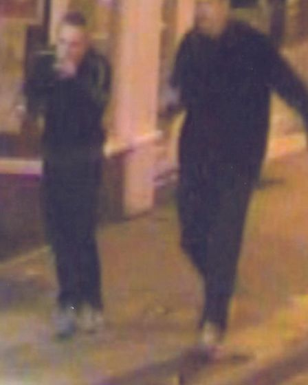 CCTV images of two people the police want to trace in connection with St Neots assault