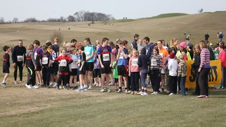 The participants on the start line
