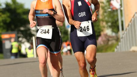 Race winners Robert Quantrell and Kathryn Berry. Picture by Mark Easton