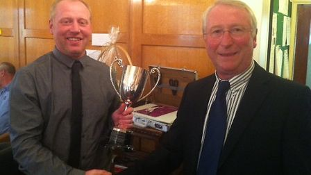Kevin Smith receives the Mencap trophy