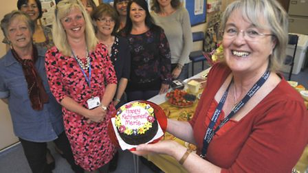 Midwife Merle Granshaw retiring after 42 years, at the St Ives Clinic with her colleagues