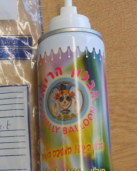 """""""Smelly Balloon"""" canister contained toxic gases"""