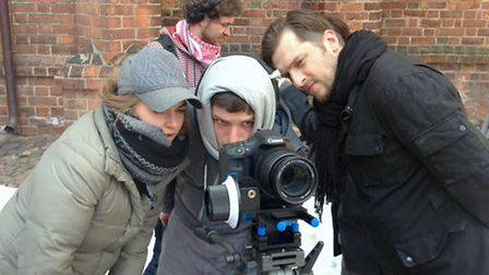 Director Luke Goodrem filming on a previous project