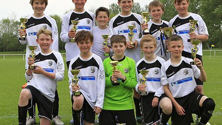 Royston Town Hearts U12s have won the League Cup. Picture by Kevin Richards