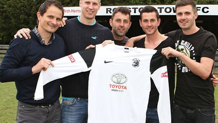 Royston Town's five new signings. Picture by Kevin Richards