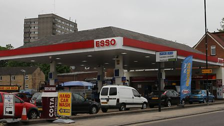 The Esso garage on London Road