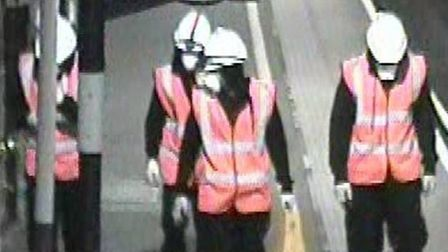 CCTV image of four men police want to speak to in connection with the attempted theft