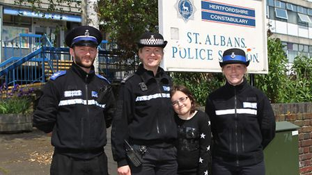 PCSO David Gatta, PS Karen Lewis, Sydney Townsend and PCSO Wendy Martin who are running the St Alban
