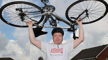 Lance Gaunt is training for a 450 KM cycle from London to Paris for blood cancer charity Leukaemia &