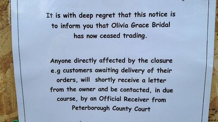message from the trader at Olivia Grace Bridal in St Neots