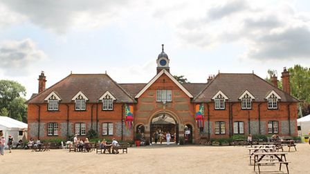 Childwickbury Stables which are home to the Childwickbury Arts Fair