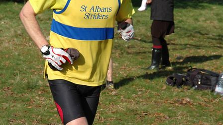 Gary Warren came ninth overall for St Albans Striders in the penultimate round of the Staton Midweek
