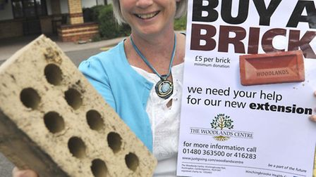 """Former Woodlands patient Carol Croft, who came up with the """"buy a brick"""" idea for the campaign"""