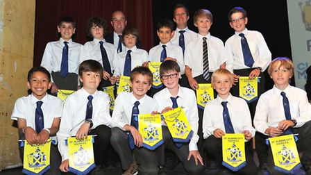 St Albans City Youth U11 West with their team managers Andy Martin and Dave Skinner pictured at the