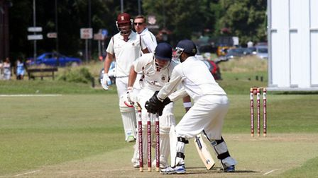 Chad Breetzke top scored for Harpenden on Saturday with 79. Picture by Michael Boyton