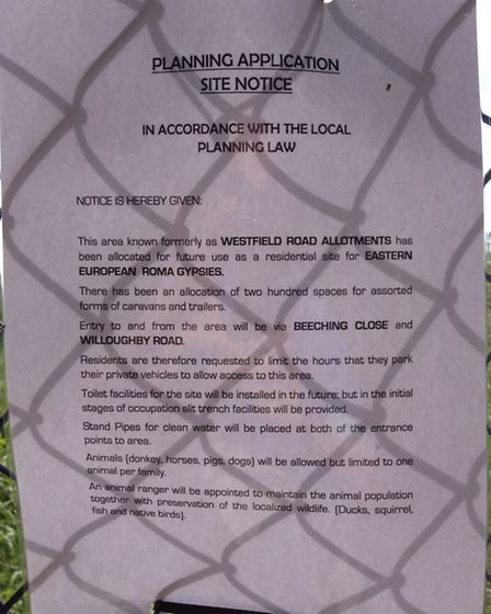 Fake planning application for so-called gypsy site in Harpenden