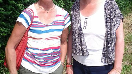 Anyta Francis (left) and Cathy Roper standing where the post box once stood