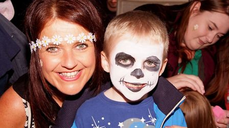 Sawtry Carnival, (l-r) Julie Howells and Zachary Holland from Sawtry Buttons & Bows