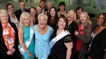 Denise Welch opened the new LighterLife premises in St Albans on Monday