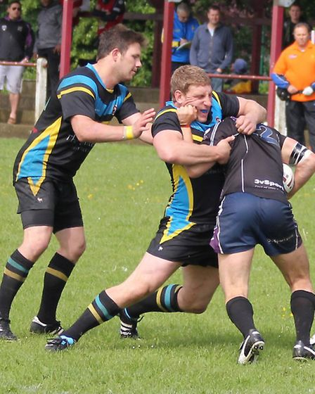Centurions hold up a Leicester attack.