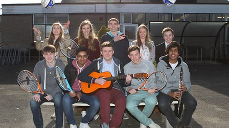 Some of the sixth formers who have helped organise the festival in honour of a former pupil