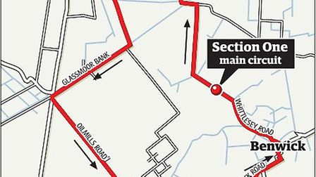 The route the Circuit of the Fens riders will tackle on Sunday.