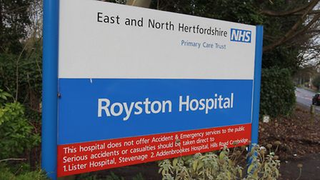 Royston Hospital sign