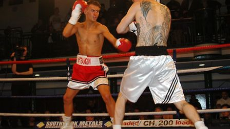 Tommy Martin in his last fight against Andrew Harris which he won on points.