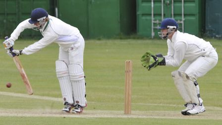 Warboys batsman Chris Whitfield in their game against Eaton Socon. Picture: Helen Drake.