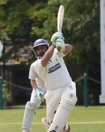 Mohammed Manzoor plays a shot