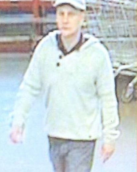 Police want to trace these people in connection with a theft from B and Q in St Neots