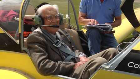 100-year-old Denis Hallisey from St Ives