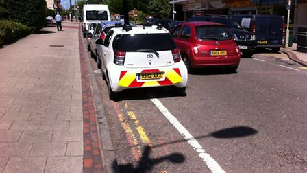 St Albans district council trialled this vehicle fitted with cameras in London Colney