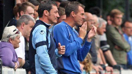 Steve Kuhne is the first ever manager of a St Neots Town Youth & Saints UCL team. Picture: Andy Wils