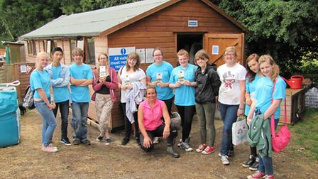 Volunteers at the Rabbit Residence