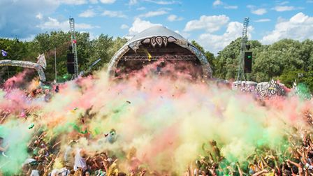 Sunday's infamous paintfight at the Secret Garden Party - Photo by Sebastian Barros Photography
