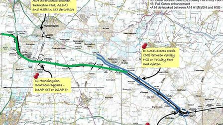 How the plans for the A14 could look