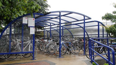 Cycle rack at St Albans station