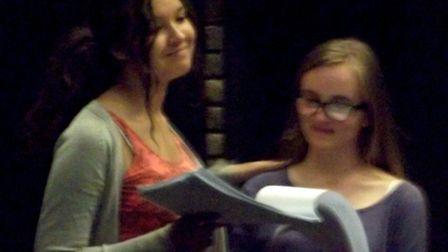 Maggie Dorling and Rose Foster during rehearsal