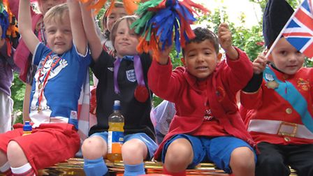 St Ives Carnival 2012, Eastfields Primary School float